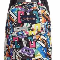 2015 Jansport Superbreak Backpack Mix Tapes 100% Authentic School Backpack Photo