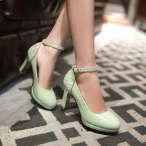 2015 Mary Janes Womens Platform High Heel Pumps Ankle Strap Wedding Party Shoes Photo