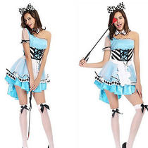 2015 New Alice in Wonderland Fantasy Game Uniforms Halloween Costumes Female Photo