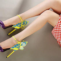 2015 New Sexy Fantasy Butterfly Wings Pointed High-Heeled Sandals Wedding Shoes Photo