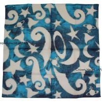 2015 Vivienne Westwood Semi-Sheer Cotton Scarf Bandana Circus Orb Blue Japanmade Photo