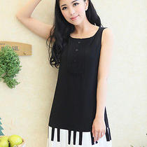 2015 Women's Love Piano Style Moschino Sleeveless Casual Mini Dress Black Photo