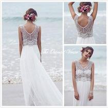 2016 Anna Campbell Beach Wedding Dresses Luxury Crystal Beaded Boho Bridal Gowns Photo