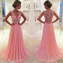 2016 Blush Pink Evening Dresses Prom Gowns Party Dress Custom Made 2-18 Photo