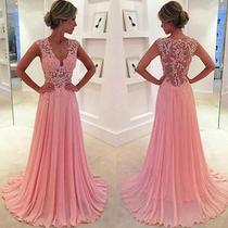 2016 Blush Pink Evening Dresses Prom Gowns Party Dress Custom Made  Photo
