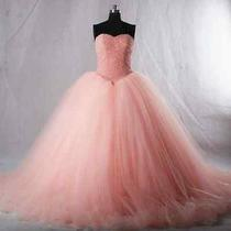 2016 New Blush Color Organza Quinceanera Dresses Ball Gowns Custom All Sizes     Photo