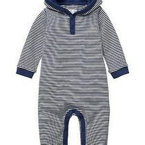2016 Nwt 0-3m Baby Gap Striped Hoodie Hooded Long Sleeve Romper Pants Outfit Photo