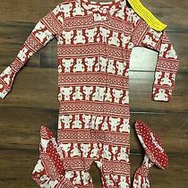 2017 Nwt 3t Baby Gap Brannan Bear Red Fair Isle Footed Sleeper Pajamas Outfit 2 Photo