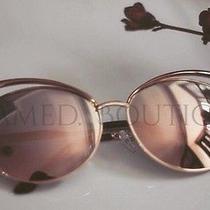 2017  Rose Gold Pink Mirrored Cateye Aviator Sunglasses Miami  Free Case  32 Photo