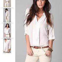 208.00 Joie Marru Silk Top Size Xs White Photo