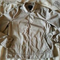 21 Men Forever Tan Zip Up Bomber Windbreaker Jacket  Size Small Photo
