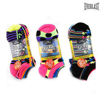 21-Pairs Everlast Color No-Show Socks With Knit Heel and Knit Toe Photo