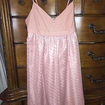 21 Women Ladies Sheer Overlay Dress Spaghetti Straps Blush Pink Size M Medium  Photo