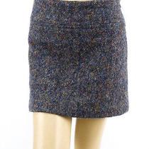 218 Theory Gray Tweed Mini Skirt - 10 Photo