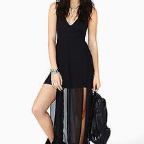 21h/m American Apparel Cutout Plunging v Neck Black Maxi Dress Forever Size S Photo