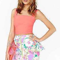 21h/m American Apparel Multicolor Floral Peplum Skirt Forever Size S  Photo