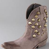 220 Jeffrey Campbell Kiki Stud Boots Taupe Seasonless Booties on Trend 37 7.5 7 Photo