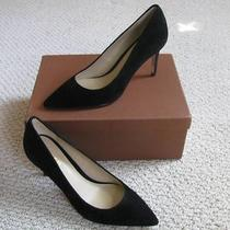 225 Coach Smith Suede Leather High Heel Pumps Shoes Black Ultra Size 6 New Photo