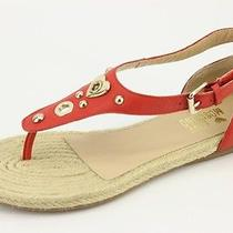 225 New Love Moschino Red Leather Thong Flat Sandals Sz 36 / 6.5 Ja16250g0xjd05 Photo