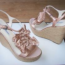 225 Vera Wang Lavender Paige Shoes Wedge Platform Espadrille Satin Sz 9.5 New Photo