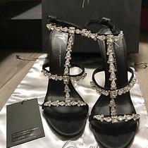 2250 Authentic Giuseppe Zanotti Rare Black Crystal Heels Sandals Size 40 / 9 Photo
