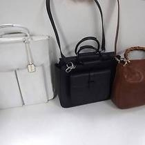 2258 Gucci Leather Metal Bamboo Top Handle 3 Set Lot Shoulder Hand Bag Junk Photo