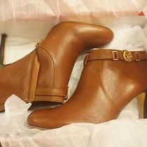 228  New Coach Sz 10 M Salene Dark Ginger Hi Heel Low  Boot  Box Photo