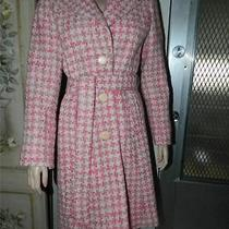 229 Nwt Bebe Pink Houndstooth Coat/jacket Size Medium - Free Shipping Photo