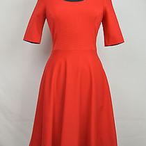 23 45 Kate Spade Nwt Lacquer Red Stretch Fit Flare Jada Dress Size 6 Msrp 358 Photo