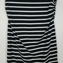 (23) Gap Maternity Xs Black White Tight Bodycon Pencil Skirt Photo