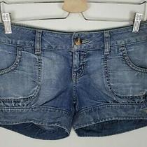 (23) Vintage Guess Jeans Short Shorts Size 4 No Back Pockets 26 Photo
