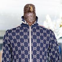 2350 Gucci Monogram Full Zip Sweater M Size 100% Cotton Certified Authentic Photo