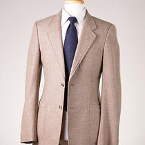 2395 Yves Saint Laurent Rive Gauche Oatmeal Beige Wool-Cashmere Sport Coat 38 R Photo