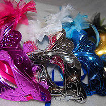 24 Pcs Masquerade Party Fantasy Masks Weddings Ladies Venice High-End Cheap New Photo