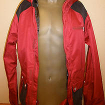 240 B by Burton Mens Xl Biking Red Dryride Aster Jacket Coat Zipper Pockets Photo