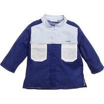 245 New 6 Yr Fendi Boy Luxury Logo Colorblock Holiday Designer Shirt Nwt Mao Photo