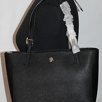 245 Nwt Auth Tory Burch Small York  Bag Tote Black Saffiano Leather W Dust Bag Photo