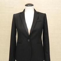 248 Jcrew 1035 Campbell Blazer in Super 120s Wool 6 Black B9675 Suiting Photo