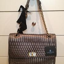 2495 Lanvin Quilted Metallic Gun Metal Happy Bag Photo