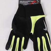 25 Nike Mens Element Thermal 2.0 Running Gloves L Large Black/yellow New Photo