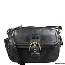 250 Coach  Campbell Leather Camera Crossbody Bag Black F25150  Nwt Photo
