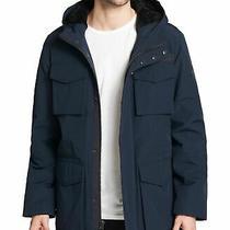 250 Levi's Mens Jacket Navy Blue Size Small S Four Pocket Fleece Lining Photo