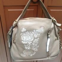 250 Marco Avane Soft Leather Hobo With Embroidery in Putty Photo