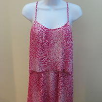255 Parker Accordion Pleated Pink and White Dress- Size S Photo