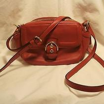 258 Coach Campbell Camera Style. Red. Leather Crossbody Bag Nwt Style F25150 Photo