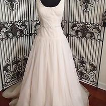 26) Saison Blanche 4265 Blush Sz 12 2250 Nwt Wedding Gown Dress Photo