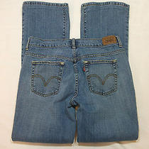 2606  Levis 515  Womens Blue Jeans Boot Cut Denim  Size 8 10 32 X 30.5  Photo