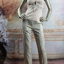2660 New Christian Dior Nude Blush Silk Floral Beaded Rhinestone Top 42 10 Photo