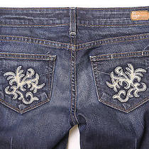 (26x31) Paige Premium Benedict Canyon Las Palmas Pocket Bootcut Jeans in Tuscan Photo
