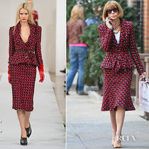 2730  Oscar De La Renta Runway Tweed Jacket-Vogue Editor's Choice Us 14 Photo